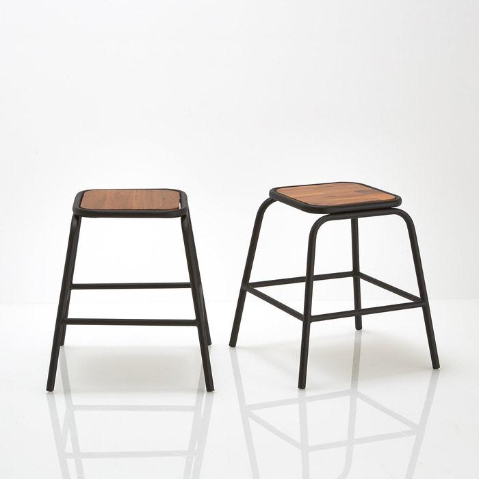 Image Set of 2 Hiba Industrial Style Stools La Redoute Interieurs
