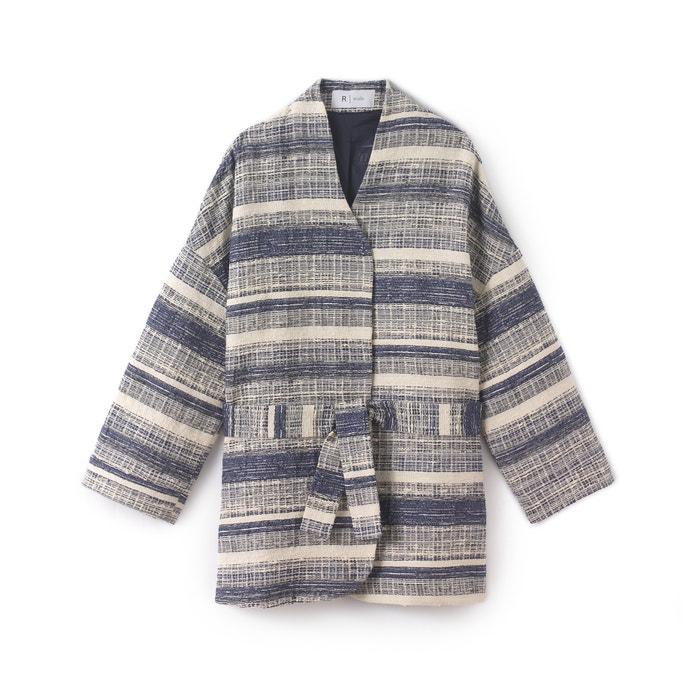 forma Chaqueta Collections Redoute La estampado kimono jacquard 8U0qp