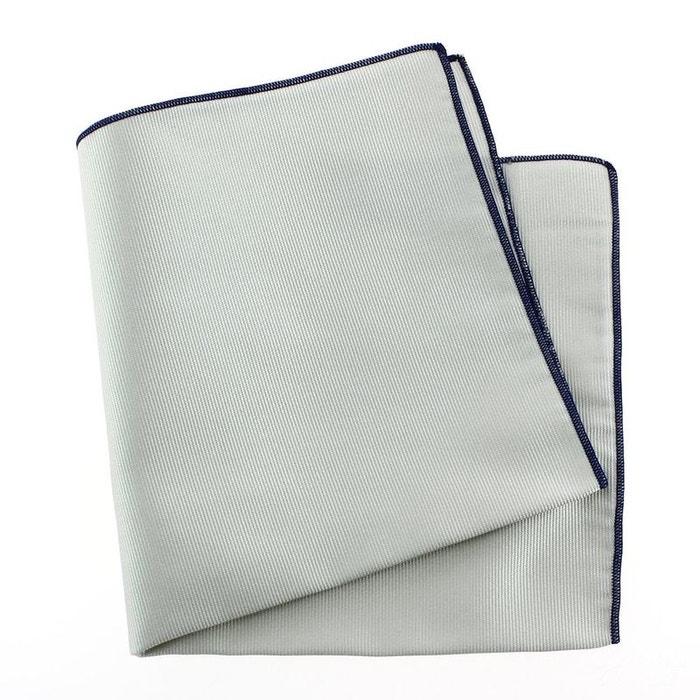 Pochette soie, perla, ourlet bleu royal gris Tony Et Paul | La Redoute