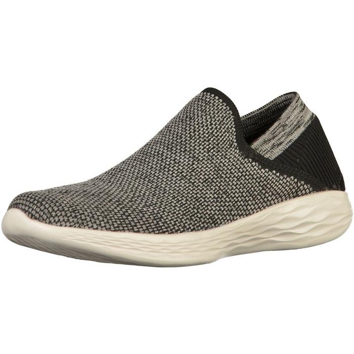 Babouche noir/blanc Skechers