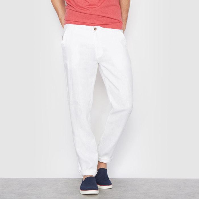 Image Pantaloni taglio stright in lino La Redoute Collections