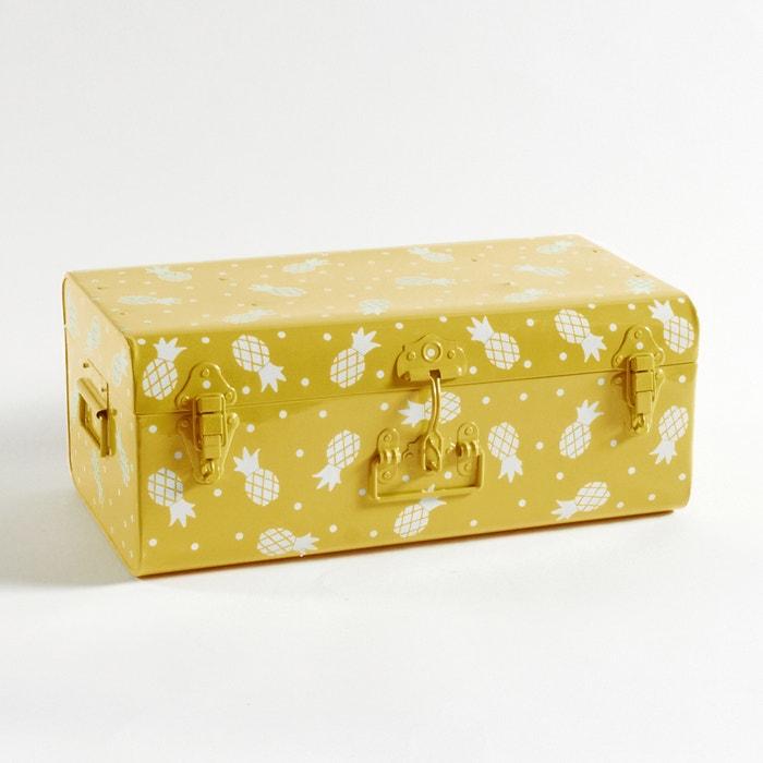 Masa metal trunk with pineapple motif pineapple print la redoute interieurs - La redoute interieurs ...