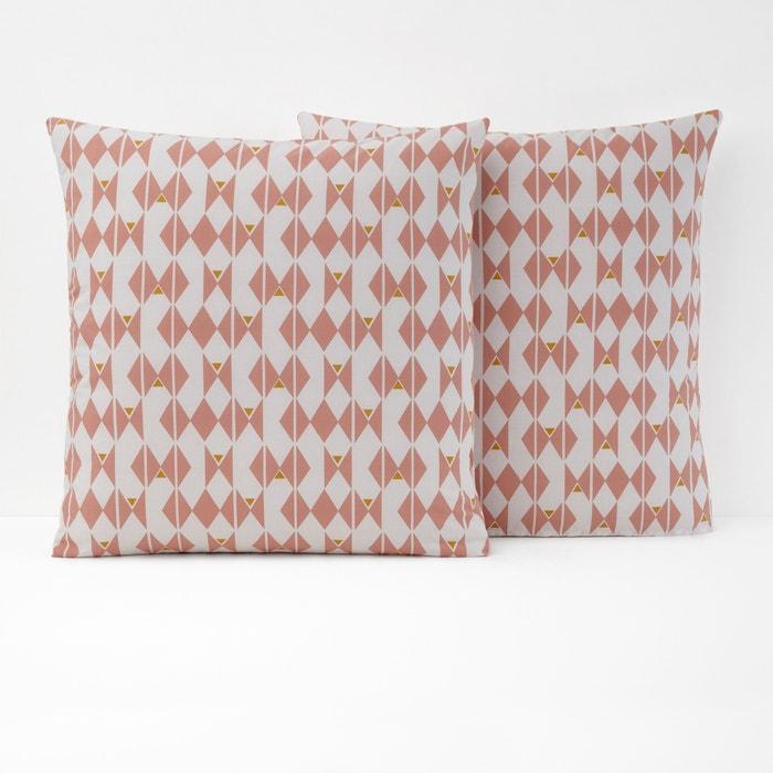 EFIA Graphic Print Square Cotton Pillowcase  La Redoute Interieurs image 0