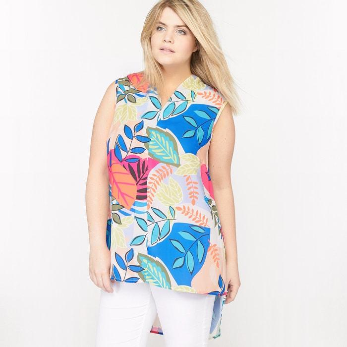 afbeelding Bedrukte blouse zonder mouwen CASTALUNA
