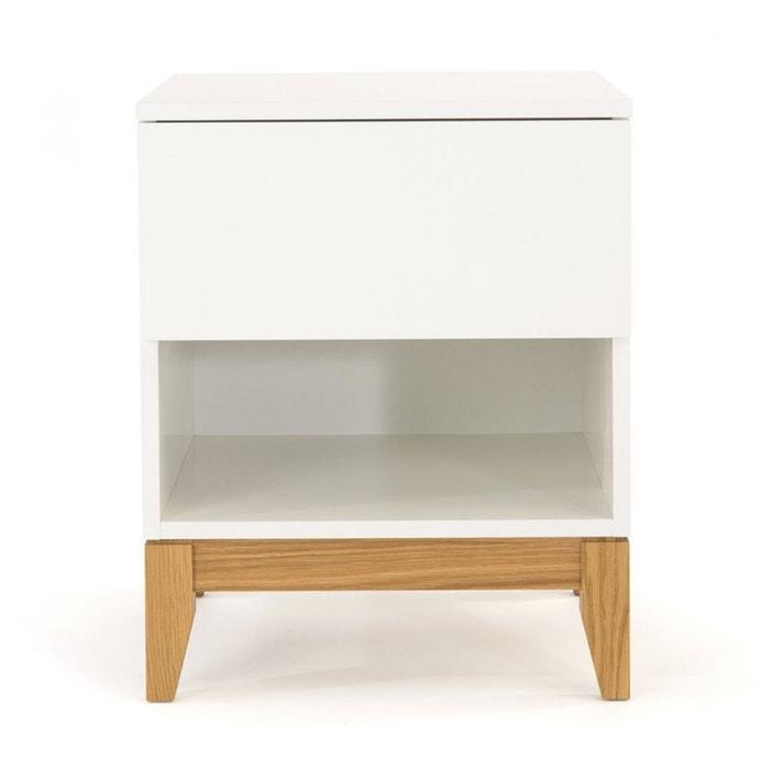 table chevet design scandinave 1 niche blanco blanc. Black Bedroom Furniture Sets. Home Design Ideas