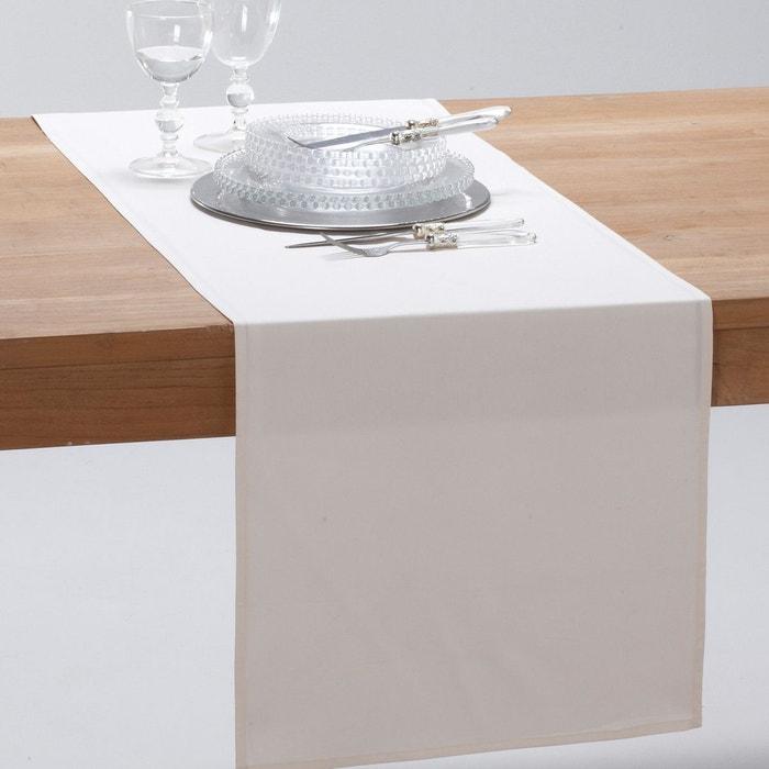 chemin de table pur coton trait anti t ches sc ecru scenario la redoute. Black Bedroom Furniture Sets. Home Design Ideas