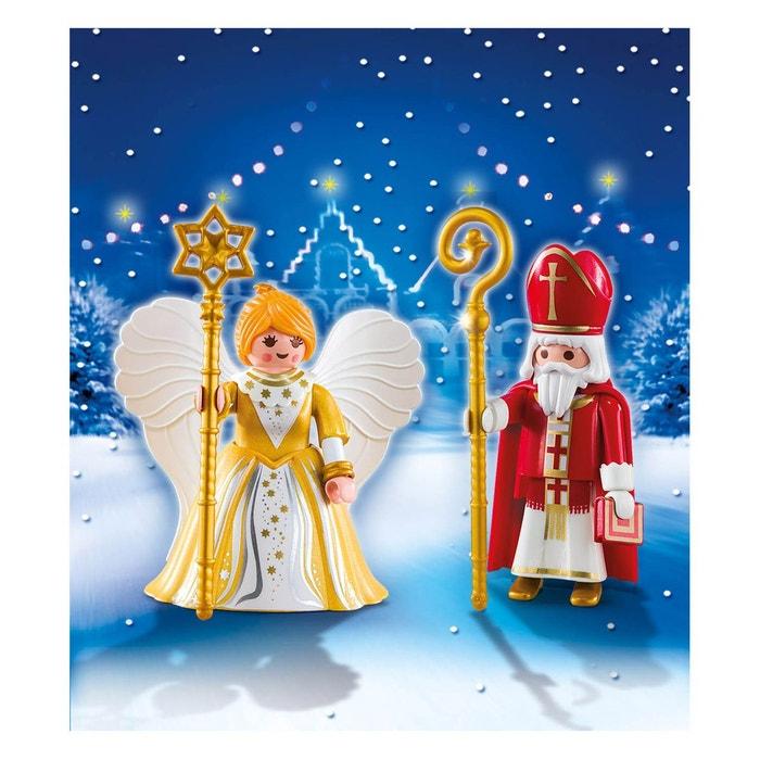 Playmobil christmas saint nicolas et ange dor pla5592 couleur unique pla - La redoute playmobil ...