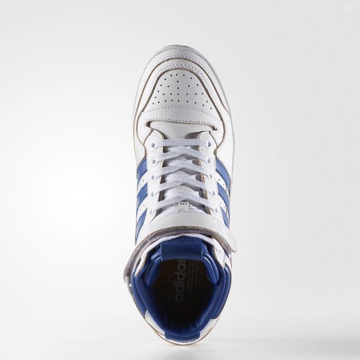 278c0739b9378 Baskets montantes cuir forum mid blanc Adidas Originals | La Redoute