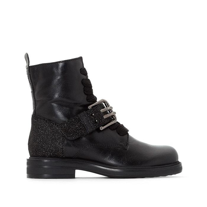 Excellente En Ligne Jeu Sast Boots cuir cafe noir scintillant Mjus XnAAcmdF1U