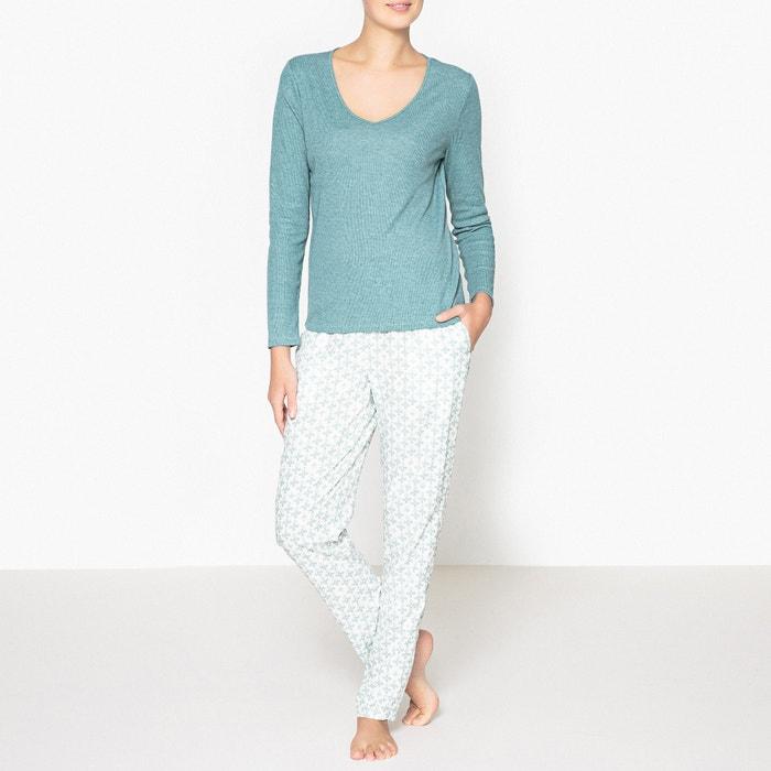 Pyjama imprim vert bleut la redoute collections la redoute - La redoute reduction prix rouge ...