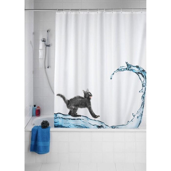 rideau de douche cat blanc wenko la redoute. Black Bedroom Furniture Sets. Home Design Ideas