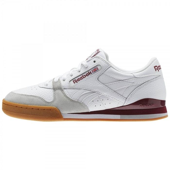 Reebok Sport PHASE 1 PRO CV / BLANC Blanc - Chaussures Baskets basses Homme