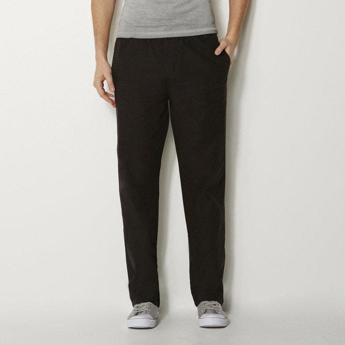 Pantalon droit en coton La Redoute Collections