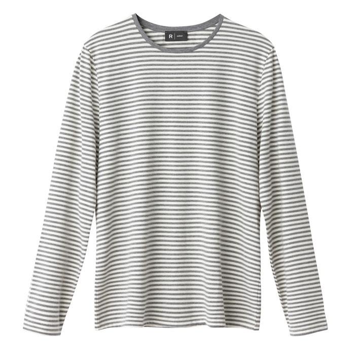 a con cuello La redondo Camiseta rayas estampado Redoute y Collections qaFt8