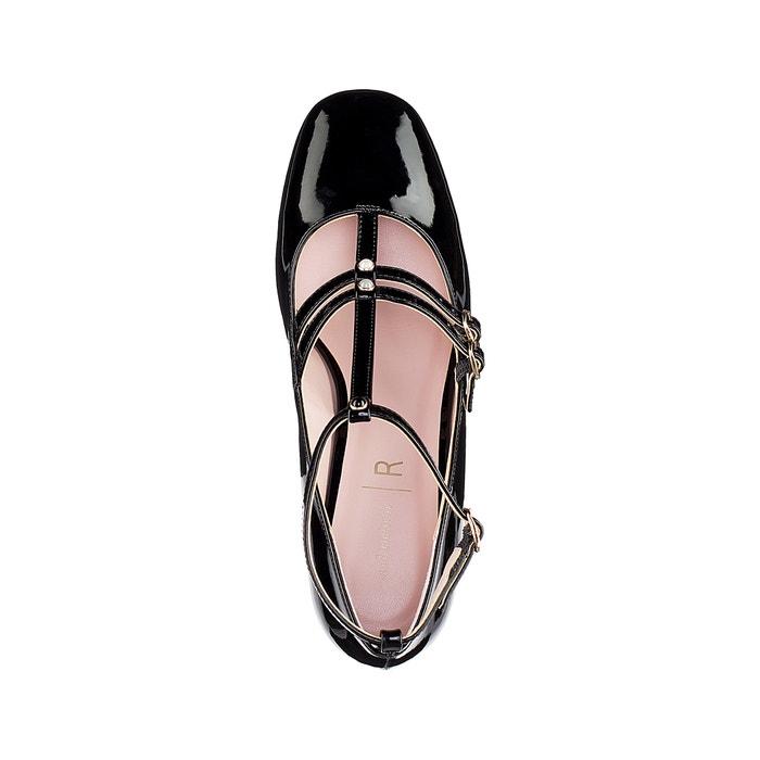 6e7e5b85970 Bailarinas de charol con detalle estilo perlas negro La Redoute Collections