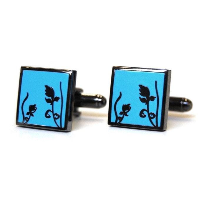 Bouton de manchette tyler & tyler, spring black metal, bright blue bleu Tyler Et Tyler | La Redoute