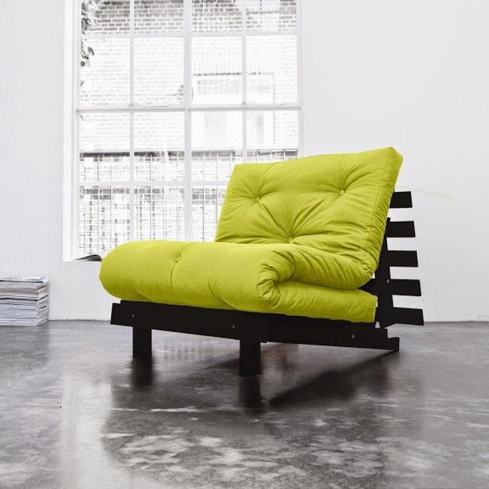 pack futon matelas latex vert pistache structure en bois weng vert terre de nuit la redoute. Black Bedroom Furniture Sets. Home Design Ideas