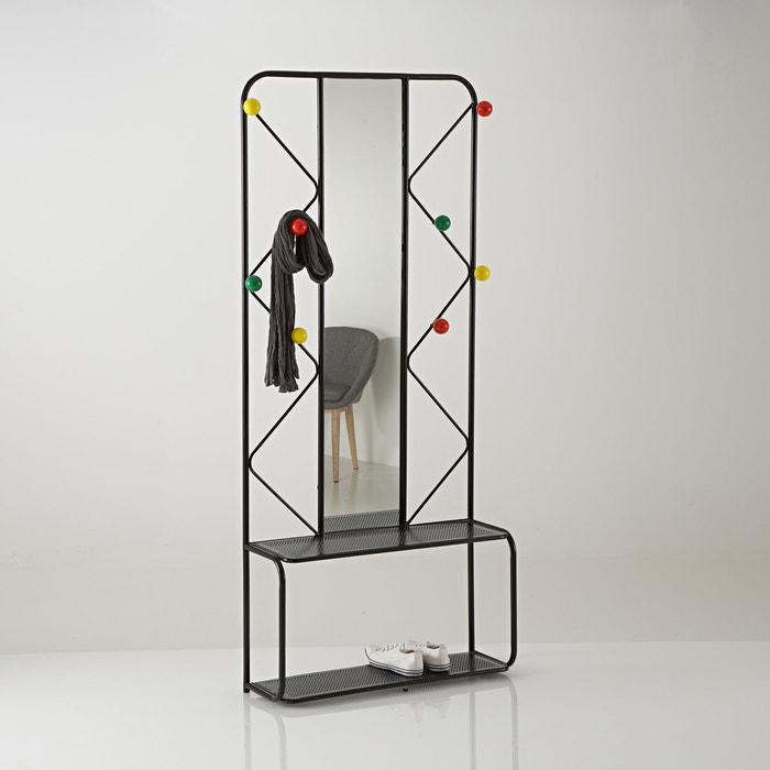 afbeelding Kapstok in metaal met spiegel Agama La Redoute Interieurs