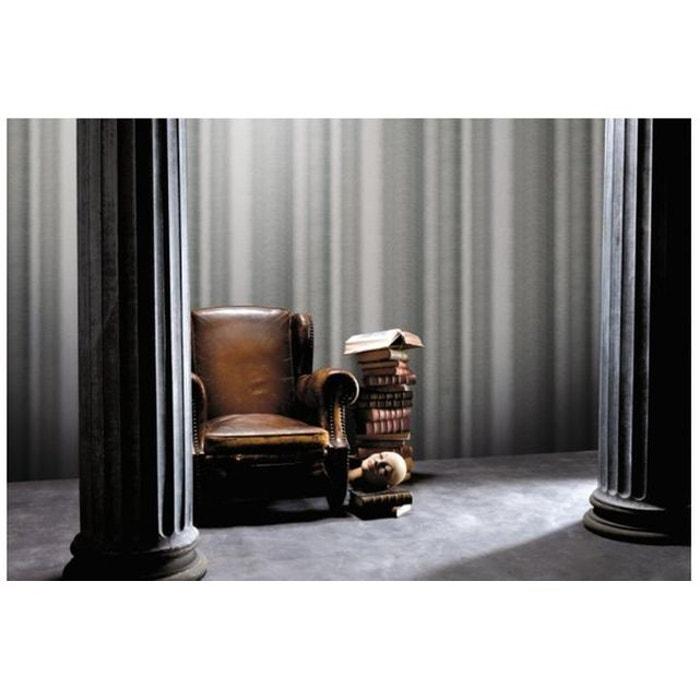 papier peint rideaux bicolore gris gris koziel la redoute. Black Bedroom Furniture Sets. Home Design Ideas
