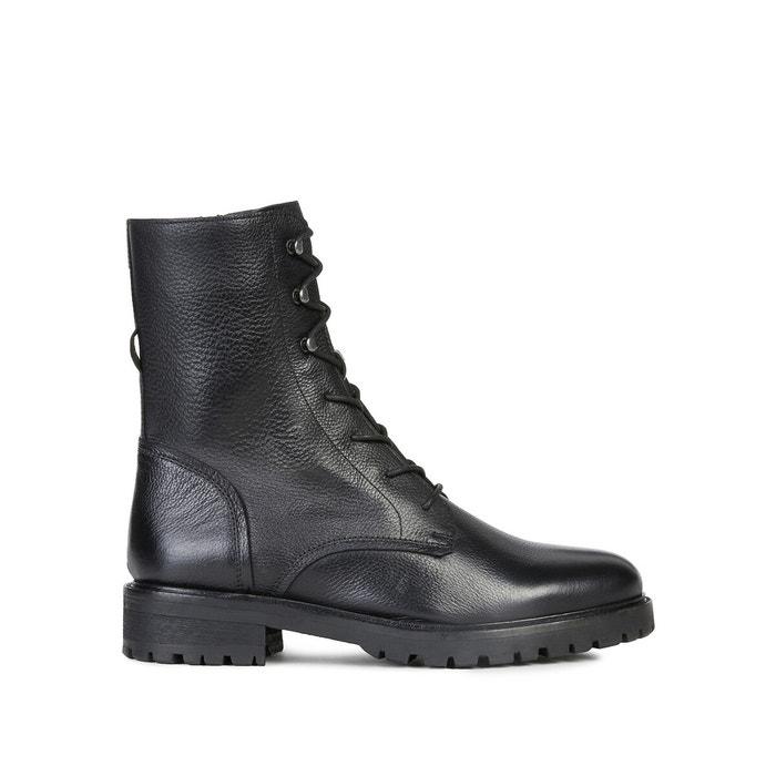 itálico préstamo Sanción  Hoara leather lace-up ankle boots , black, Geox | La Redoute