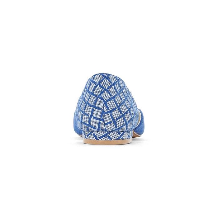 Ballerines pompons pied large 38-45 bleu Castaluna