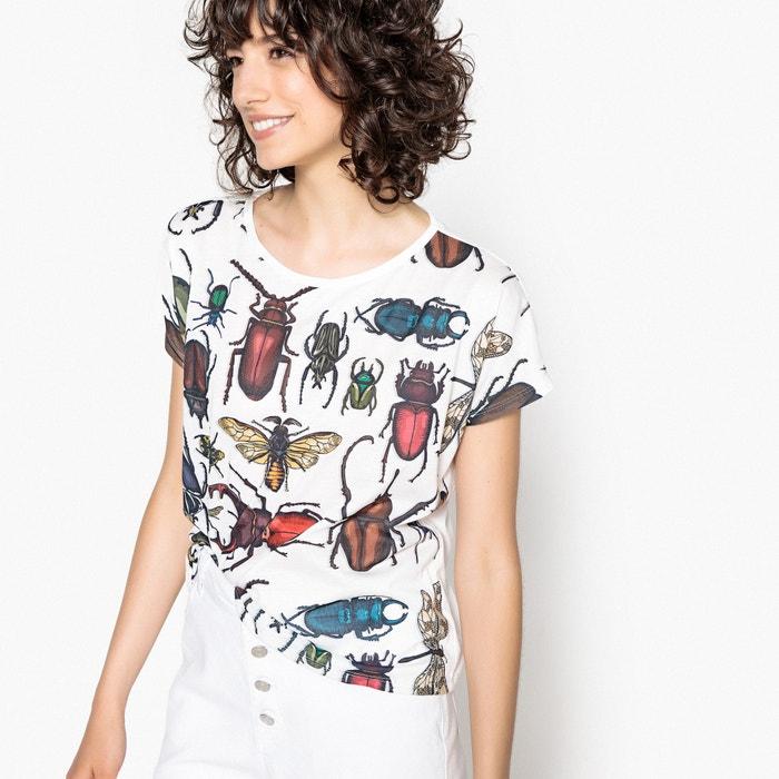estampado de y escarabajos redondo Camiseta Collections de cuello manga La con Redoute corta wqp1ZHFx
