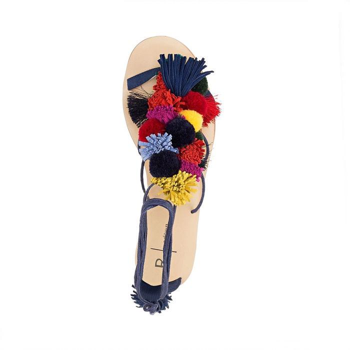 Sandales détail pompons multicolore La Redoute Collections