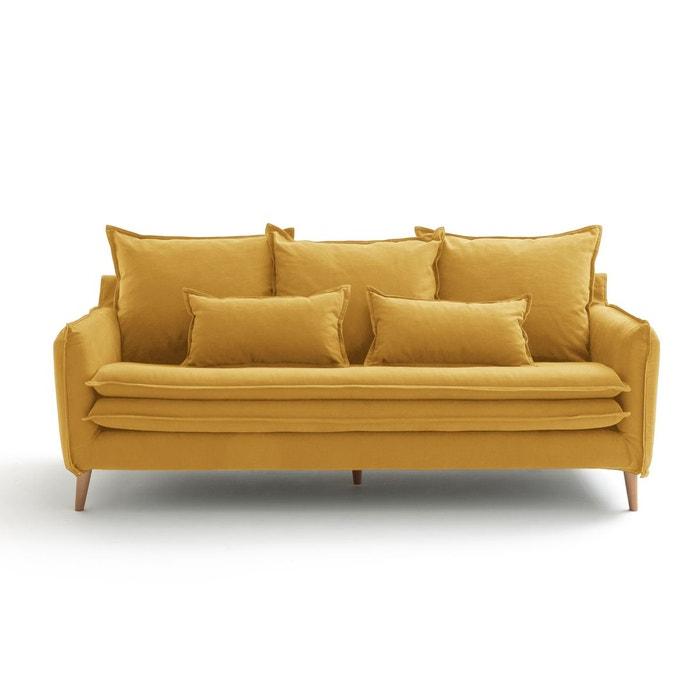Canapé fixe 3 ou 4 places, coton-lin, Oceano  LA REDOUTE INTERIEURS image 0