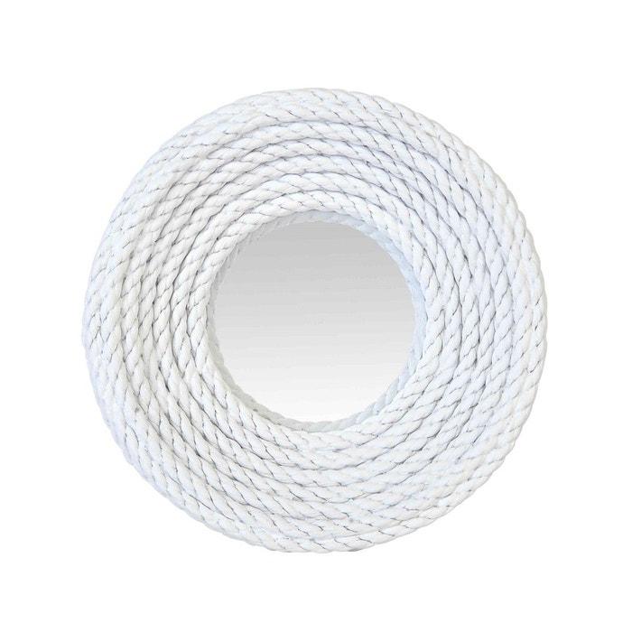 Miroir convexe corde blanche blanc emde premium la redoute for Miroir emde deco