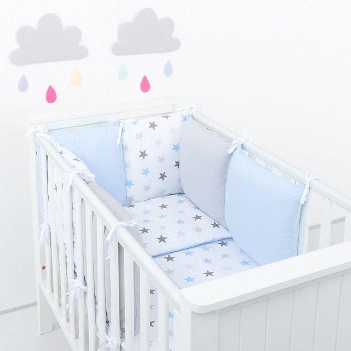 tour de lit coussins modulables avec parure r versible. Black Bedroom Furniture Sets. Home Design Ideas