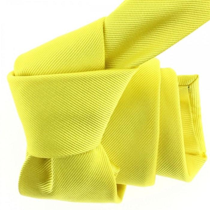 cravate luxe faite la main jaune citron jaune tony et paul la redoute. Black Bedroom Furniture Sets. Home Design Ideas