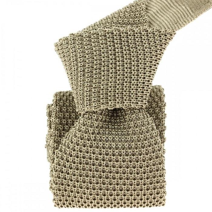 Cravate tricot taupe, soie, tony & paul marron Tony Et Paul | La Redoute