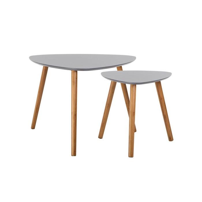 Table basse scandinave lot de 2 rendez vous deco la - La redoute table basse scandinave ...