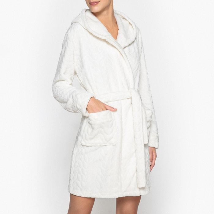 Hooded waffle bathrobe La Redoute Collections  13ede61a7