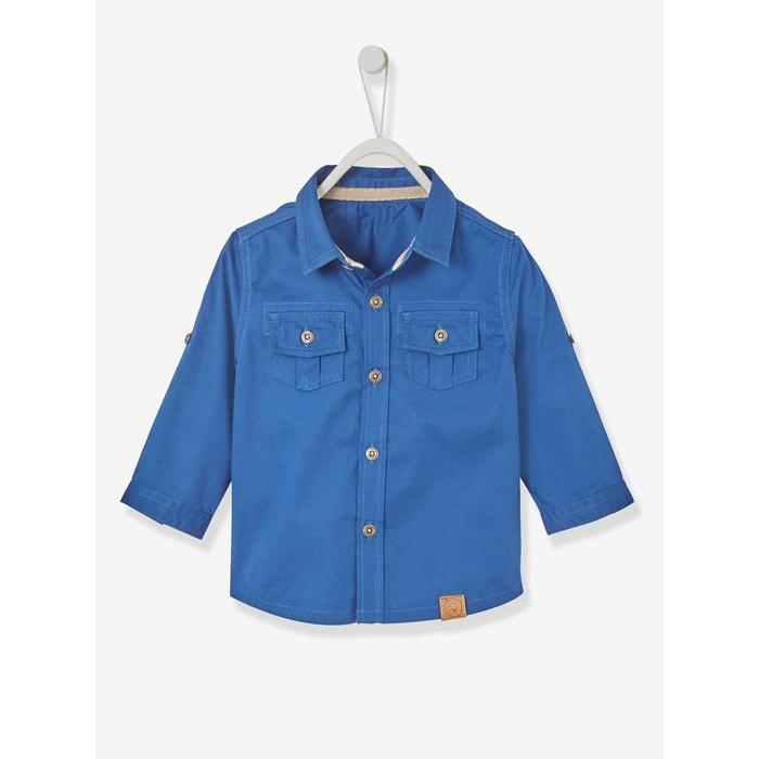 chemise pigment e b b gar on bleu fonc vertbaudet la redoute. Black Bedroom Furniture Sets. Home Design Ideas