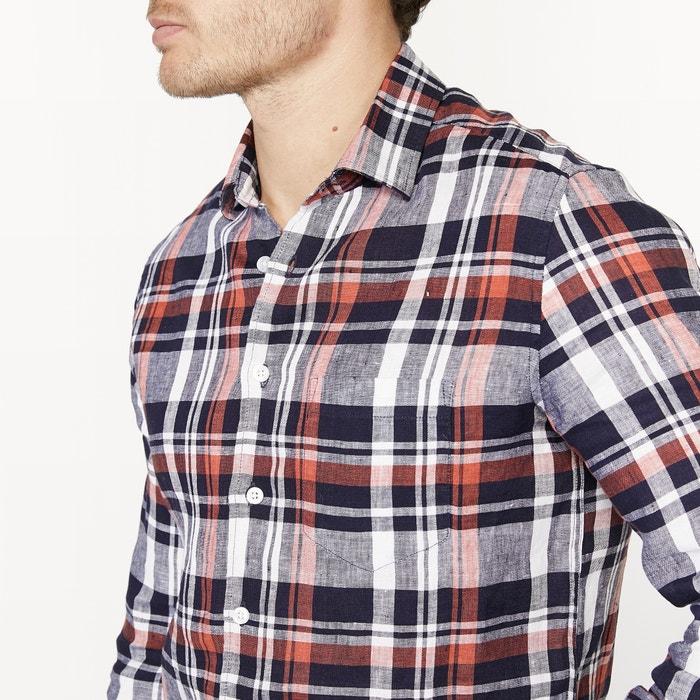 La con lino 100 corte Redoute Collections Camisa recto 44RSAzqw