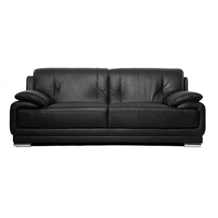 canap cuir tamara 3pl miliboo la redoute. Black Bedroom Furniture Sets. Home Design Ideas