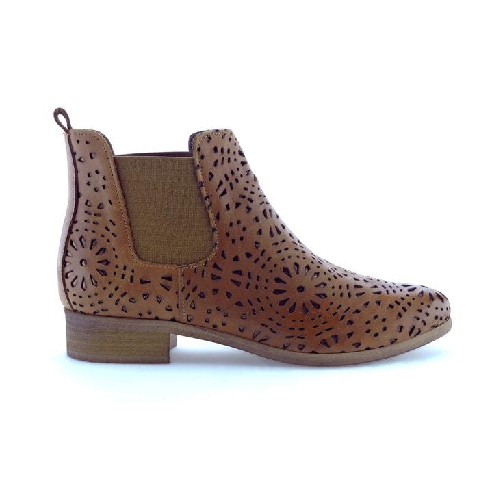 afbeelding Boots in leer met ajour effect Zola BUNKER