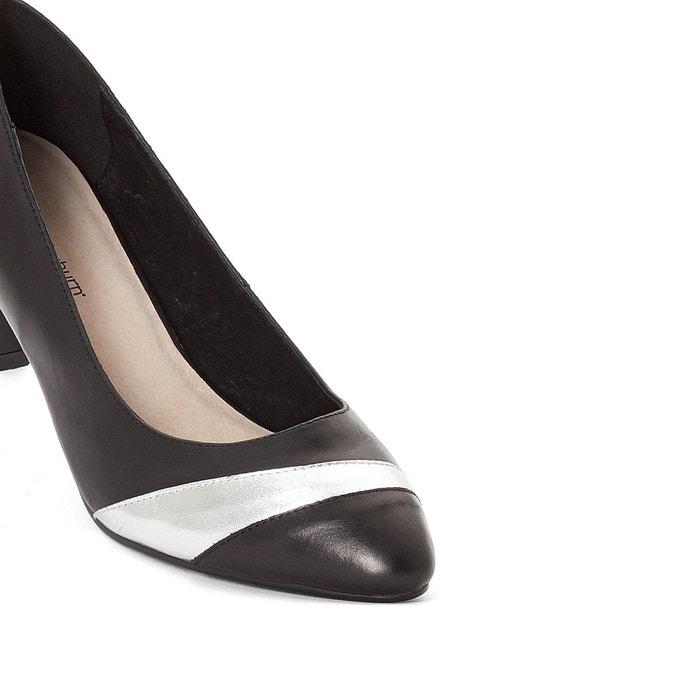 Escarpins cuir noir Anne Weyburn