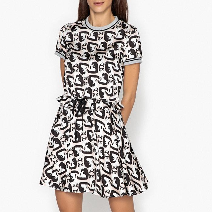 Bambina Short-Sleeved Printed Dress with Cat Motif  PAUL AND JOE SISTER image 0