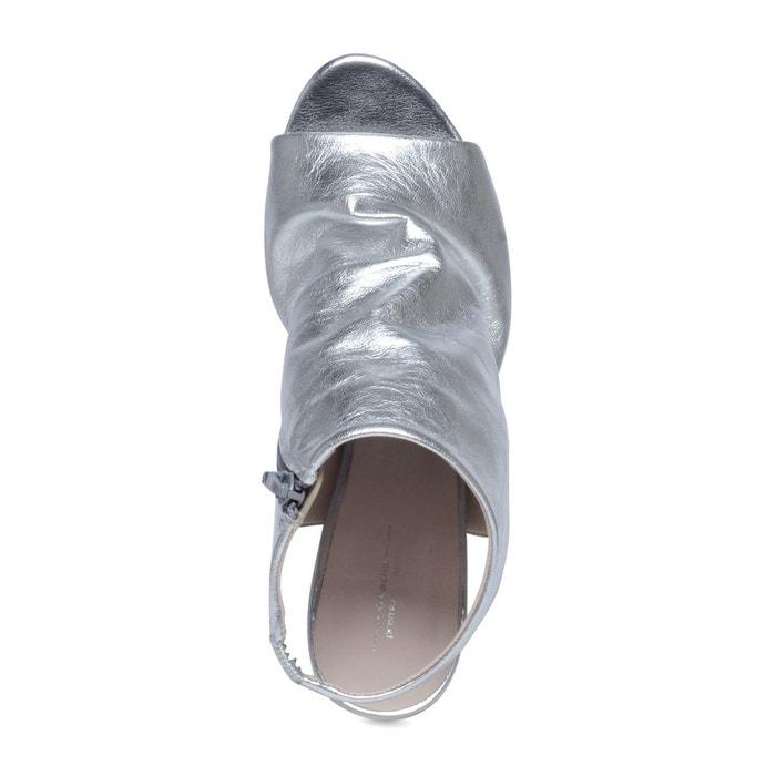 Sandales fermées avec peep toe Sacha