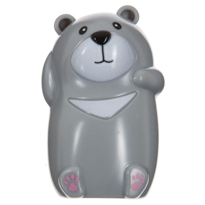 Porte brosse dents enfant ventouse ours gris gris atmosphera la redoute - Porte brosse a dent ventouse ...