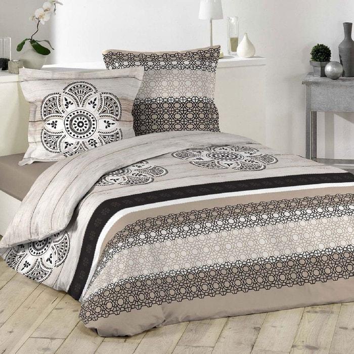 parure housse de couette imprime collection katmandou marron douceur d 39 int rieur la redoute. Black Bedroom Furniture Sets. Home Design Ideas
