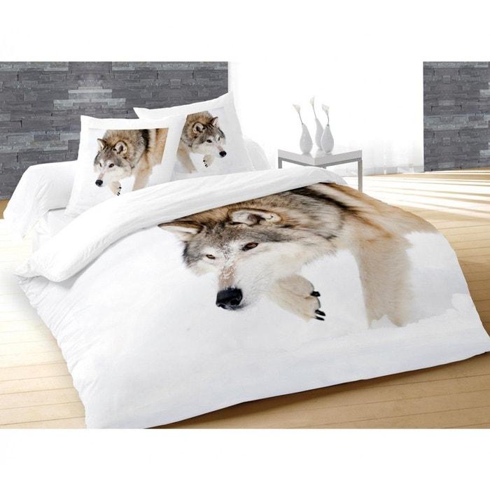 parure de lit loup terre de nuit blanc terre de nuit. Black Bedroom Furniture Sets. Home Design Ideas