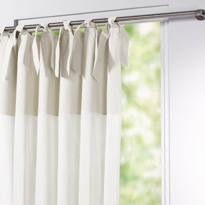 Image Osmain Pure Cotton Tie Top Single Voile Panel La Redoute Interieurs
