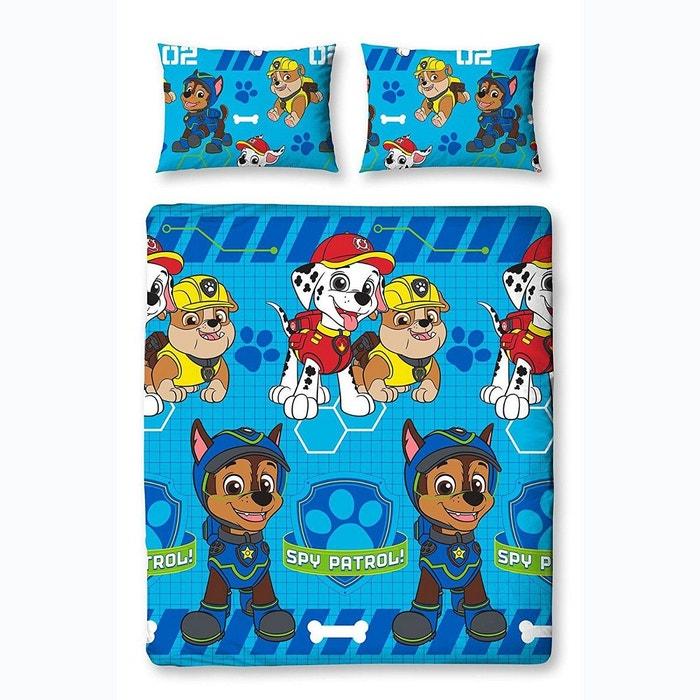 Parure de lit double pat patrouille blue spy bleu pat patrouille la redoute - Parure lit pat patrouille ...