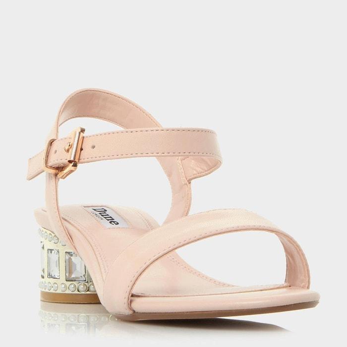 Sandales à talons ornés de perles et bijoux fantaisie Prix Réel Pas Cher Vue Pas Cher Aubst