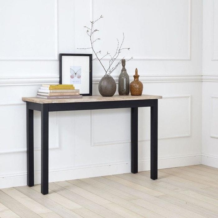 console en bois d 39 acajou et teck acajou bois dessus bois dessous la redoute. Black Bedroom Furniture Sets. Home Design Ideas