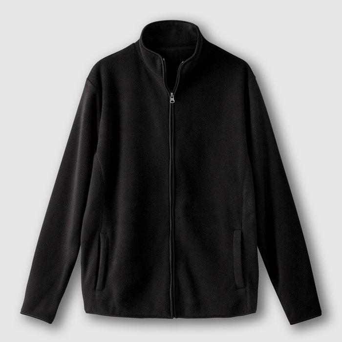 High Neck Zip-Up Fleece Sweatshirt