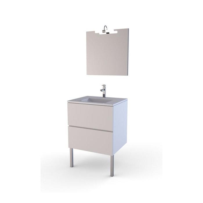 meuble de salle de bain 39 simply 60 39 blanc home bain la redoute. Black Bedroom Furniture Sets. Home Design Ideas